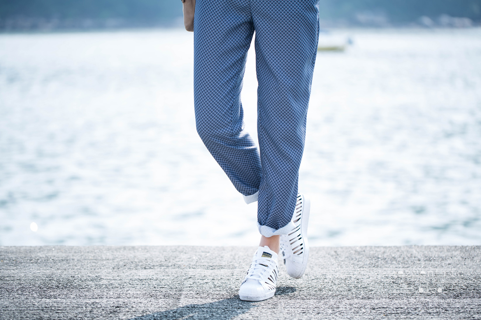 Zara jumpsuit , American Appareal Belt , Adidas Original Cut Out Sneakers 03