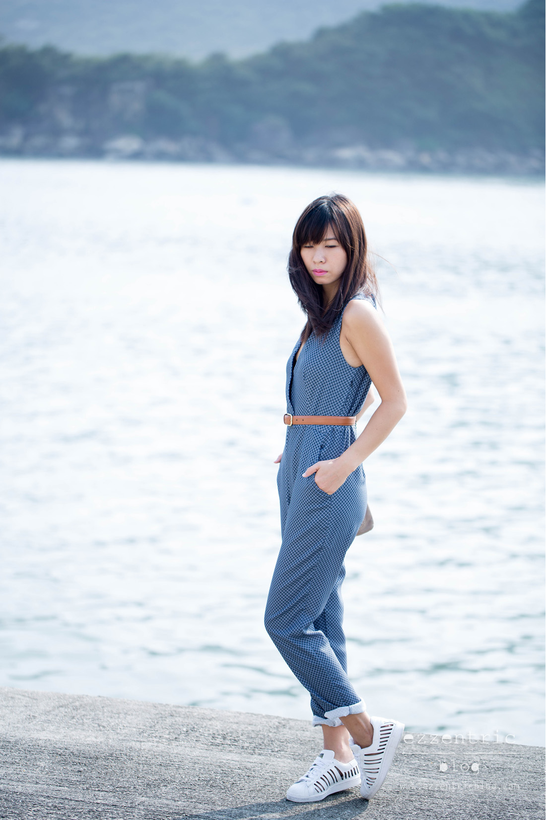 Zara jumpsuit , American Appareal Belt , Adidas Original Cut Out Sneakers 07