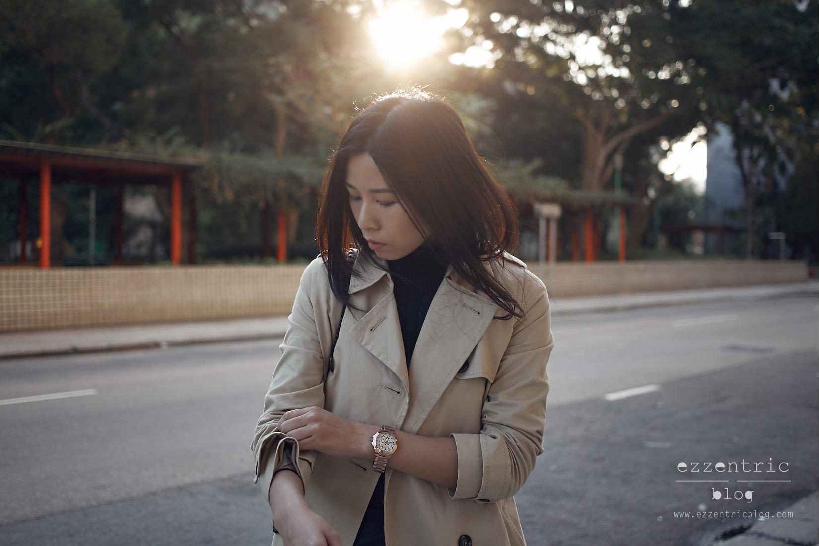 The Must Have Trench Coat and Boyfriend Watch 05