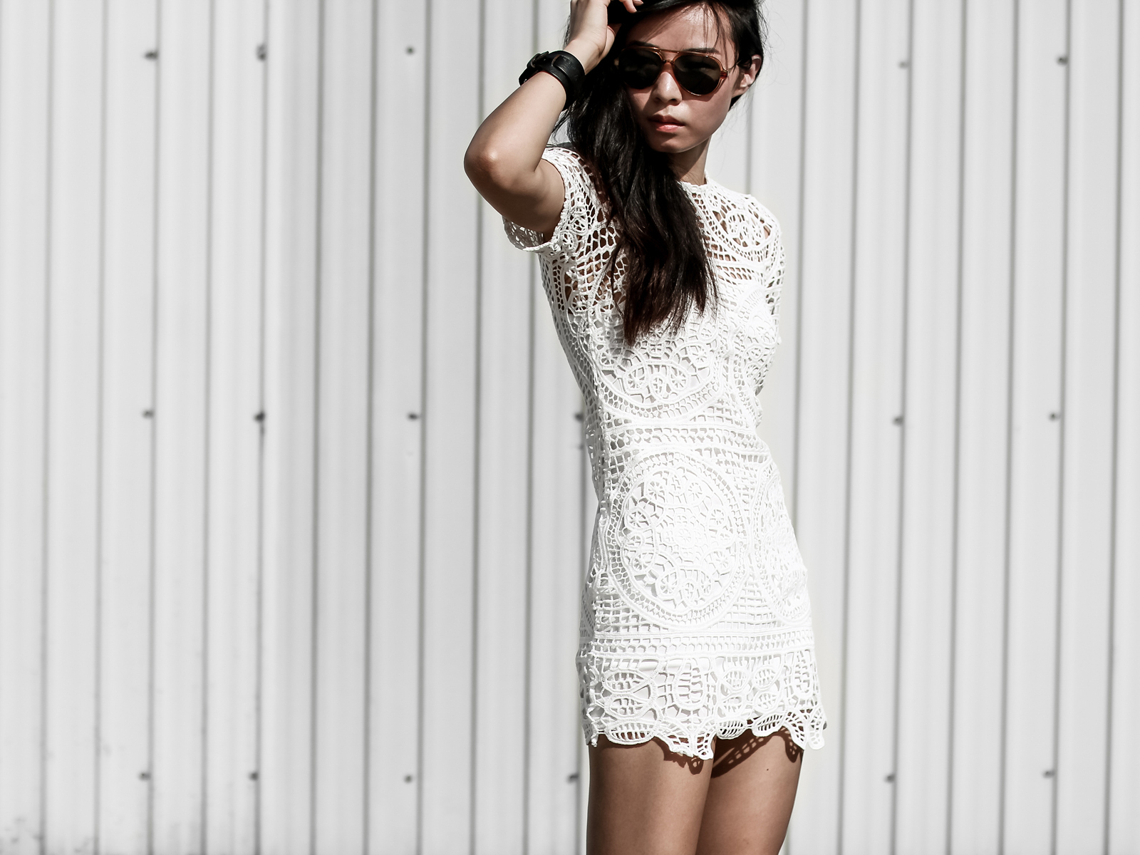 How To Style a cool white dress outfit COVER