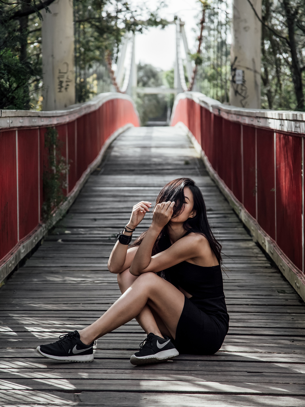 How to Style Little Black Dress with Sneakers Cover